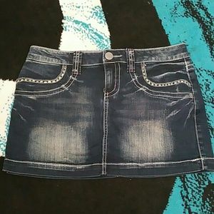 NWOT Vanity denim mini 27W